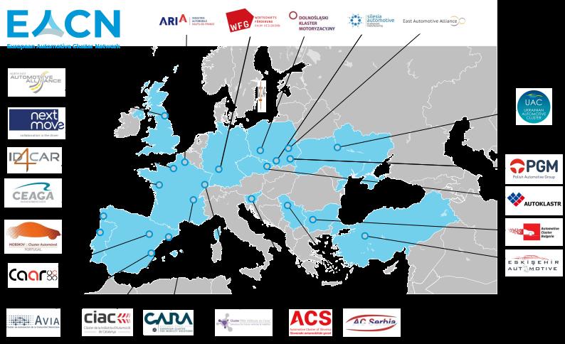Map of EACN Members